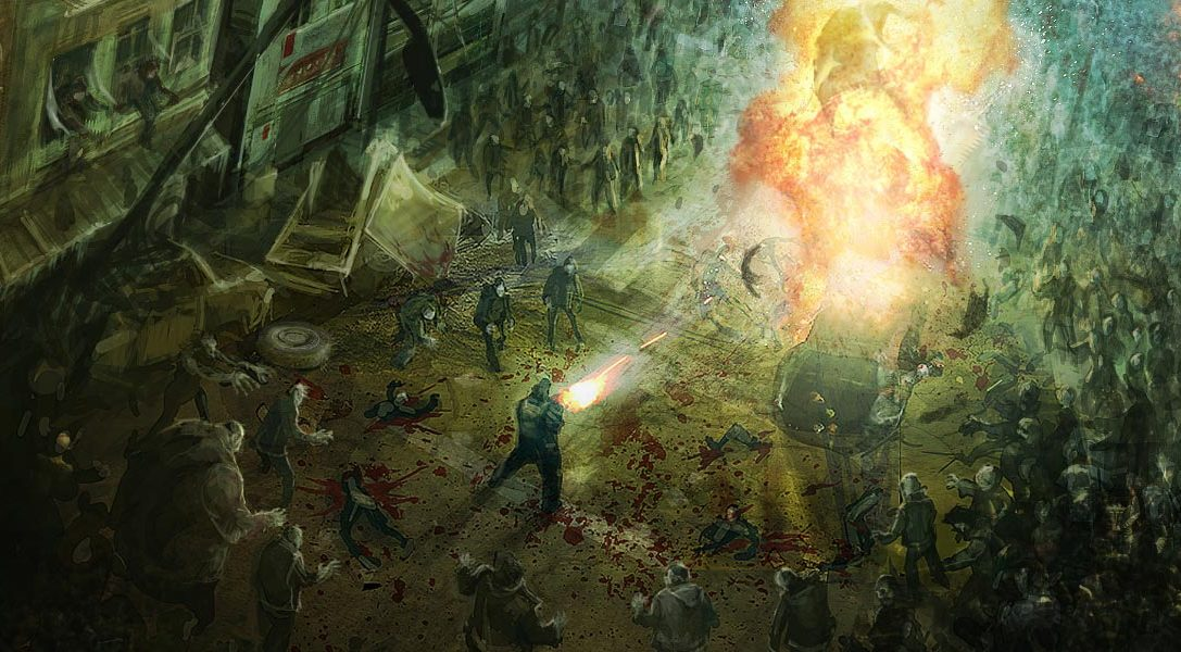 Dead Nation sur PS4 : Massacre à la tron-zombineuse