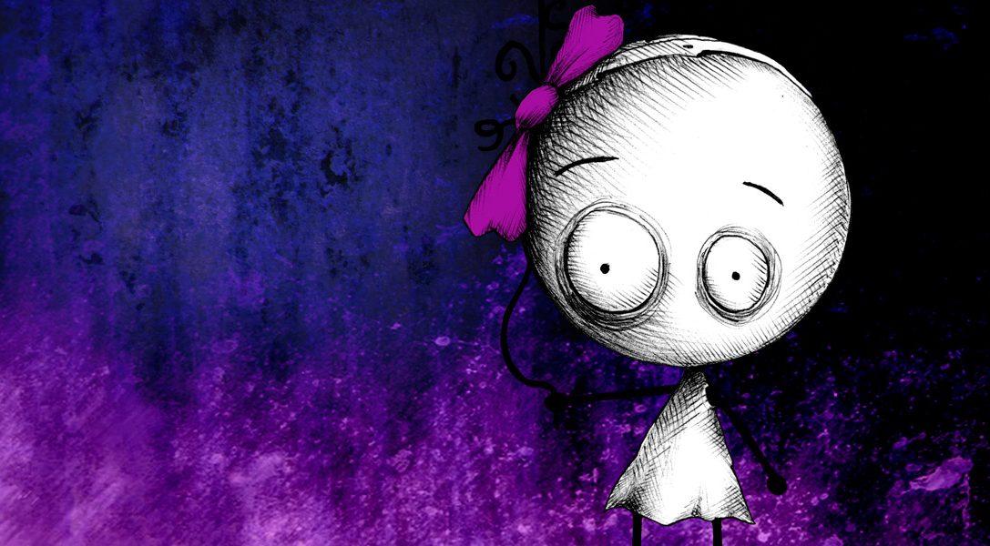 Le gameplay de Murasaki Baby illustré par des GIF (dans un style très Tim Burton)
