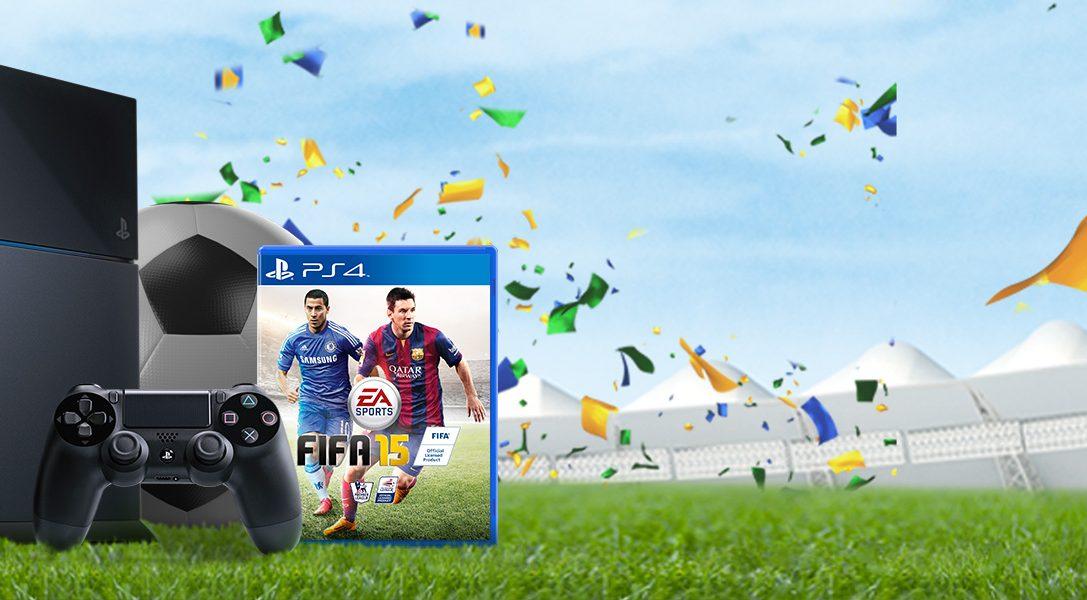 Un 'soft' bundle PS4 + FIFA 15 disponible pendant une durée limitée