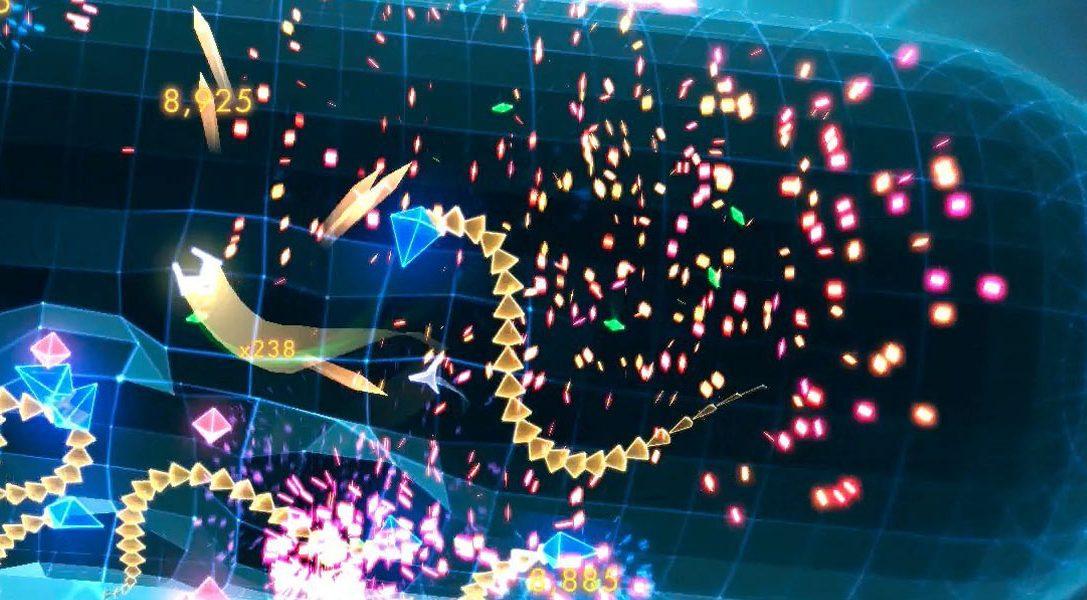 Les explosions de Geometry Wars 3: Dimensions en action sur PS4