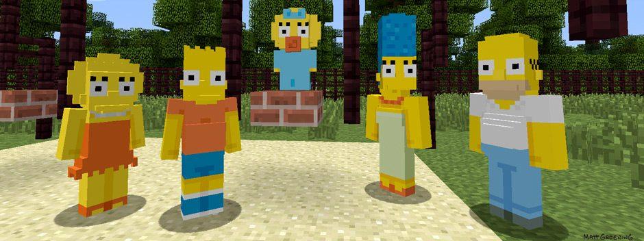 Cette semaine, Les Simpsons débarquent dans Minecraft !