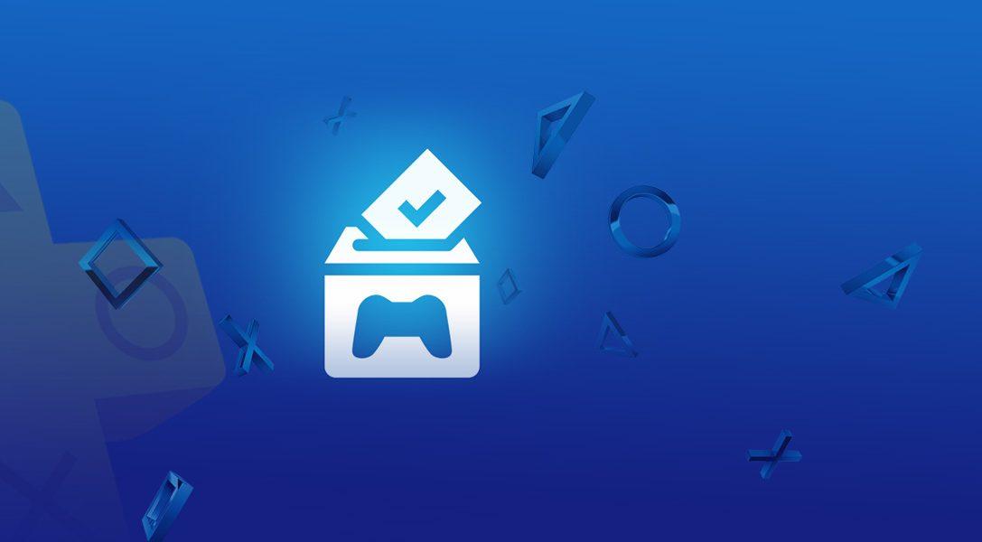 PlayStation Plus : Votez pour jouer débute cette semaine !