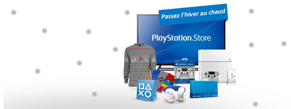 Passez l'hiver au chaud. À gagner : PS4, Sony HD TV, Xperia Z5, et bien d'autres récompenses pour les fêtes