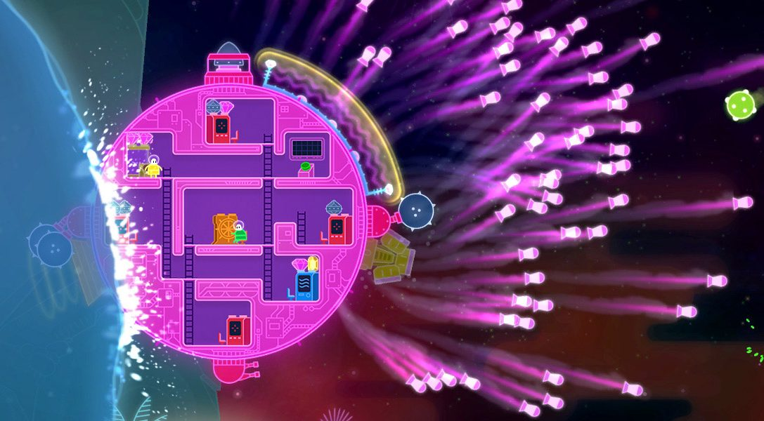 Lovers in a Dangerous Spacetime, le jeu en coopération à succès, débarque sur PS4 en février