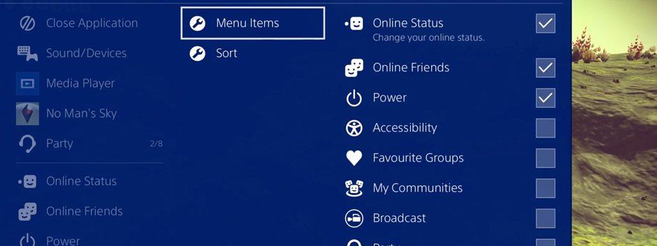 Découvrez le nouveau «Menu rapide» de la PS4