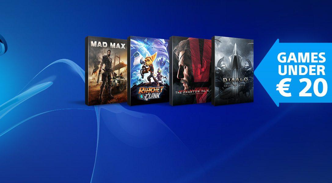 Remises sur le PlayStation Store : toute une sélection de jeux PS4 à moins de 20 €