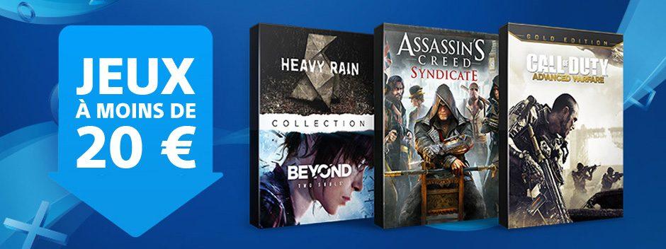 Les Jeux à moins de 20 € sont de retour sur le PlayStation Store