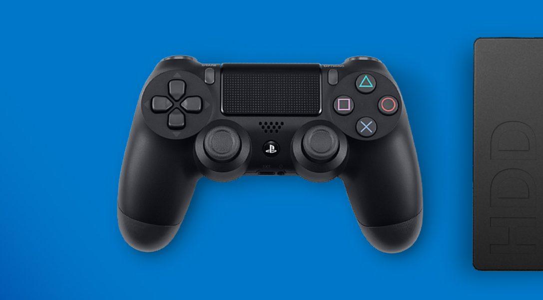 Télécharger et stocker des jeux et apps PS4 sur un disque dur externe