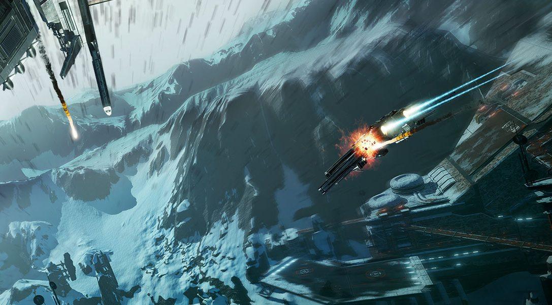 Groundrush, la nouvelle mise à jour d'EVE: Valkyrie, débarque sur PS VR avec une nouvelle carte, un mode coop amélioré et bien plus.