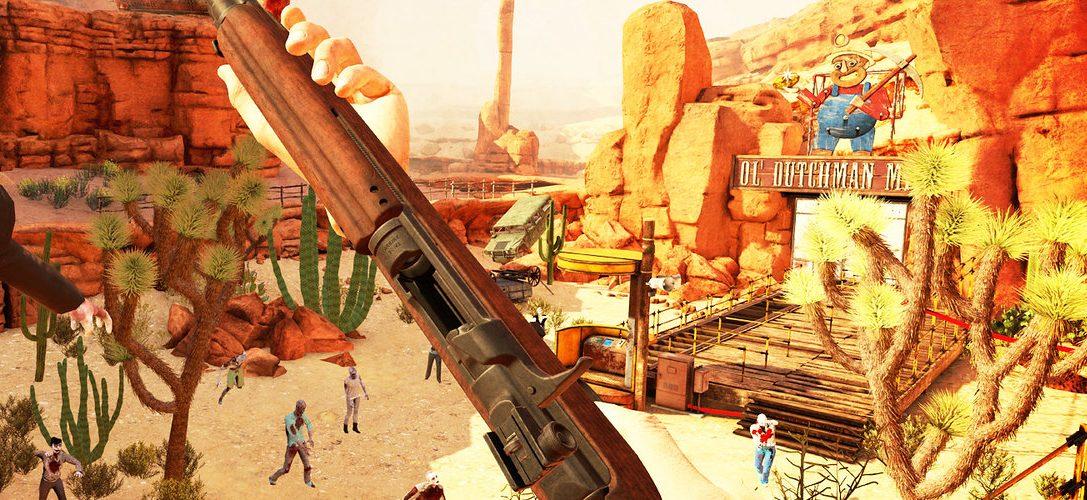 Le jeu PS VR de tir sur zombies Arizona Sunshine sort demain, avec une remise de 10 % pour les membres PS Plus.