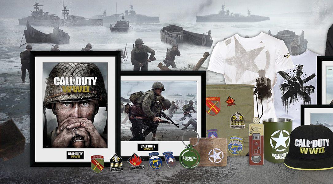 De nouvelles marchandises Call of Duty WWII débarquent sur PlayStation Gear