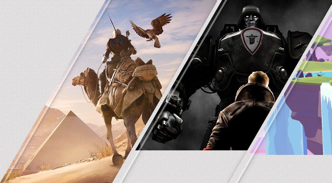 Mise à jour du PlayStation Store : Assassin's Creed Origins, Wolfenstein II : The New Colossus, et bien d'autres…