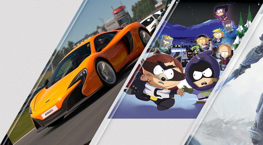 Mise à jour du PlayStation Store : Gran Turismo Sport, South Park : L'Annale du Destin, ELEX…
