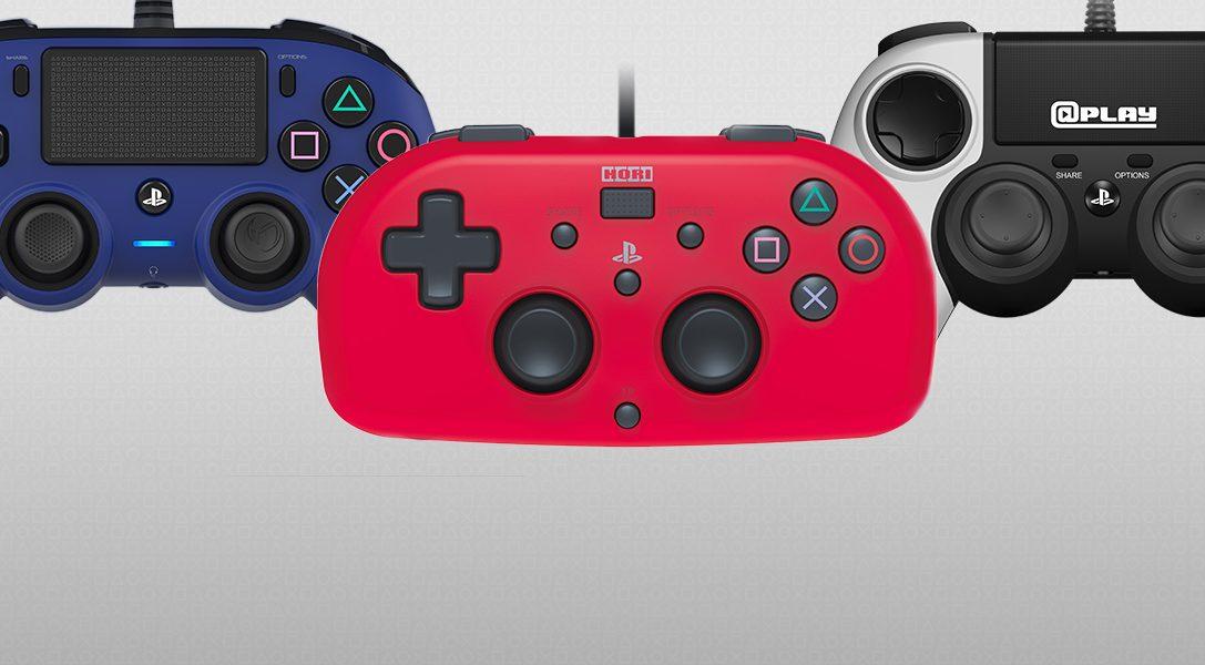 Un premier aperçu des nouvelles manettes compactes et mini-manettes officiellement sous licence pour le système PS4