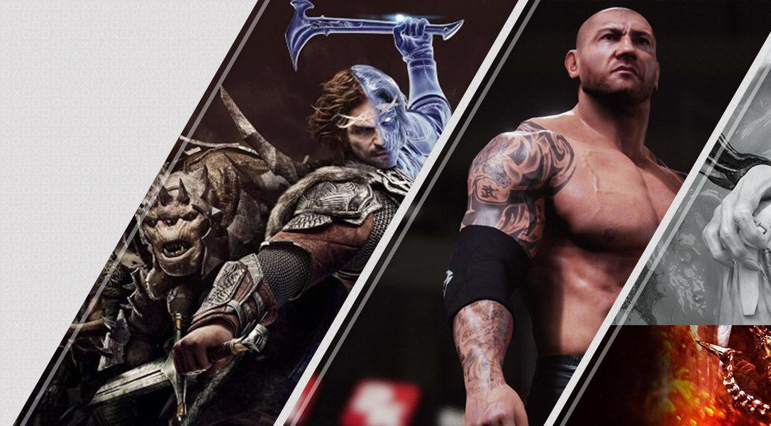 Mise à jour du PlayStation Store : La Terre du Milieu : L'Ombre de la Guerre, WWE 2K18, The Evil Within 2 et plus encore…