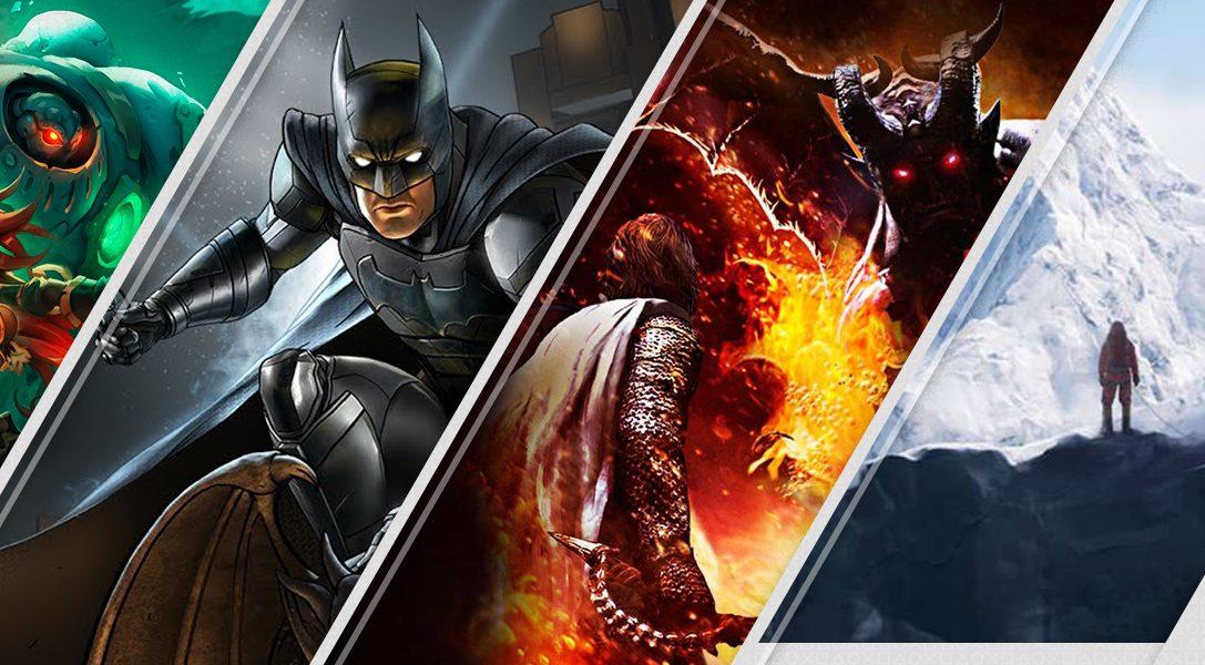 Mise à jour du PlayStation Store : Batman: The Enemy Within, Everest VR, Battle Chasers: Nightwar
