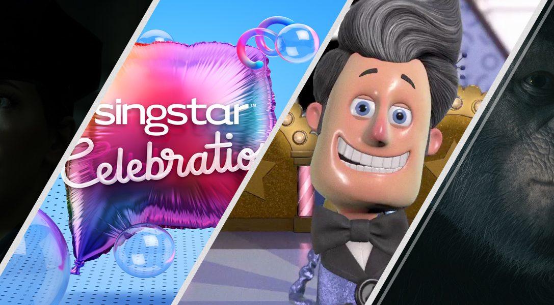 Trois nouveaux titres PlayLink sortent aujourd'hui : Hidden Agenda, Knowledge is Power et SingStar Celebration