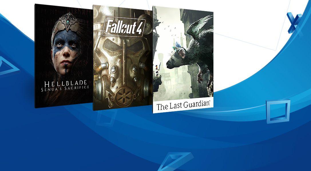 L'offre 'Jeux à moins de 20 €' commence aujourd'hui sur le PlayStation Store