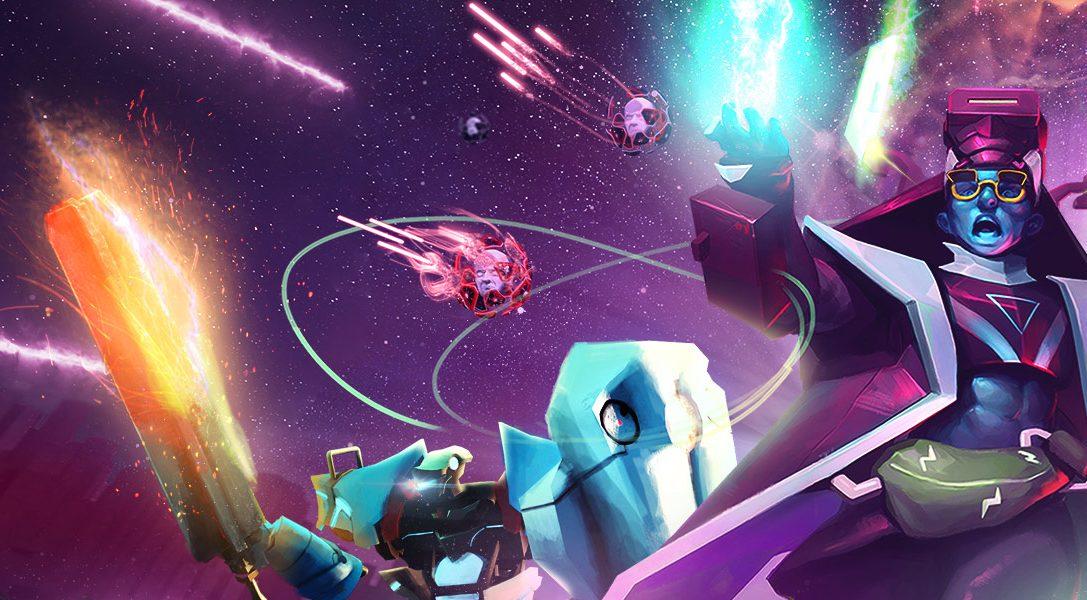 Affrontez une vague d'ennemis numériques dans Blasters of the Universe, le jeu de tir intense sur PS VR, disponible le 27 février