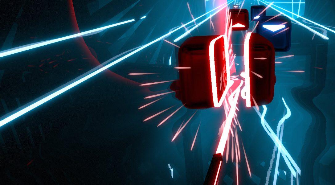 Utilisez votre PS Move pour couper des blocs dans le jeu de rythme et d'action Beat Saber – bientôt disponible pour PS VR