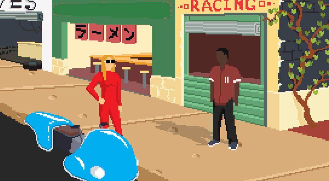 Faites la course aux commandes d'un hoverbike dans Desert Child, le jeu de rôle SF à la bande-son hip-hop lo-fi