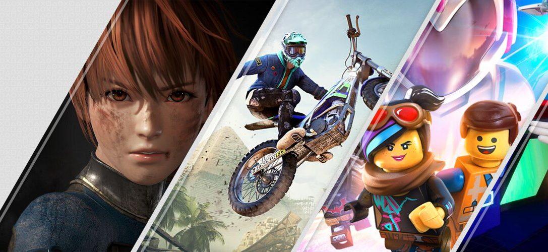 Les nouveautés de la semaine sur PlayStation Store : Dead or Alive 6, Trials Rising, La Grande Aventure LEGO 2 : Le Jeu Vidéo et bien plus