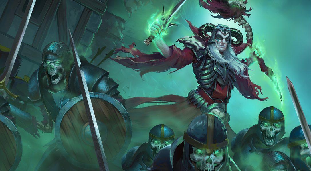 Réanimez les morts dans le jeu d'action-RPG Undead Horde, dans lequel vous incarnez un nécromant, disponible sur PS4