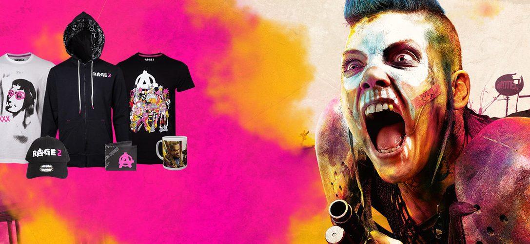 Célébrez la sortie de Rage 2 avec les produits officiels, disponibles sur PlayStation Gear