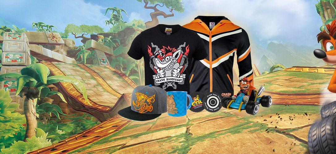 Célébrez la sortie de Crash Team Racing Nitro-Fueled avec les nouvelles marchandises disponibles sur PlayStation Gear