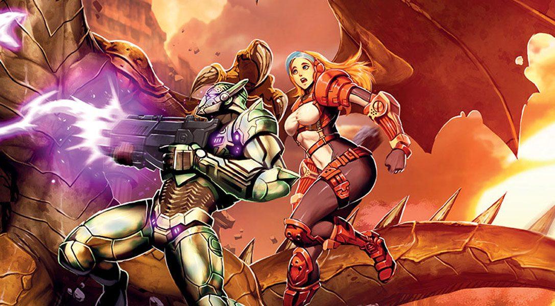 Le jeu de plate-forme et d'action en 2D Gunlord X déboule sur PS4 cette semaine