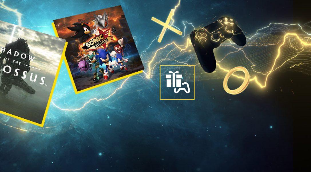 Shadow of the Colossus et Sonic Forces sont vos jeux PS Plus du mois de mars