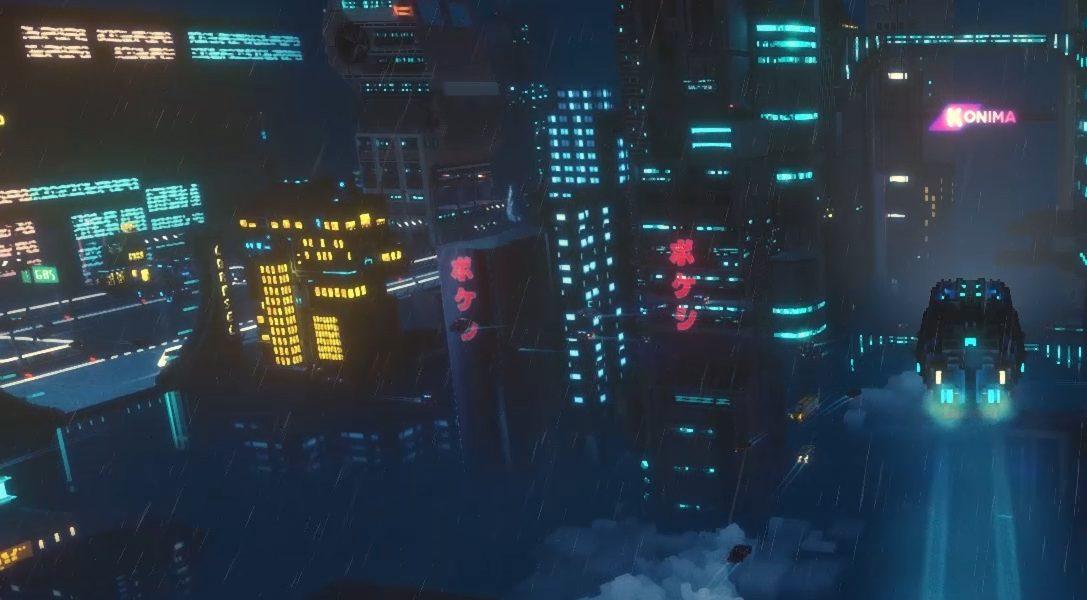 Incarnez une livreuse et survivez à une nuit au cœur d'une métropole cyberpunk en voxel dans Cloudpunk