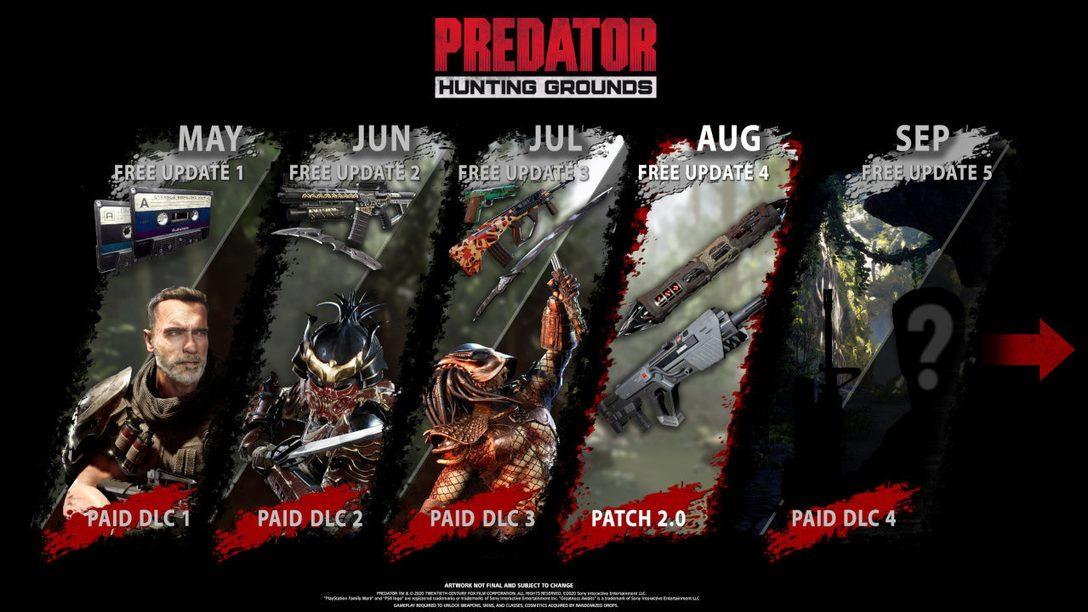 Predator: Hunting Grounds lance sa mise à jour du mois d'août