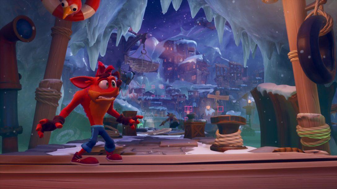Explorez les plates-formes à la fois inédites et familières de Crash Bandicoot: It's About Time