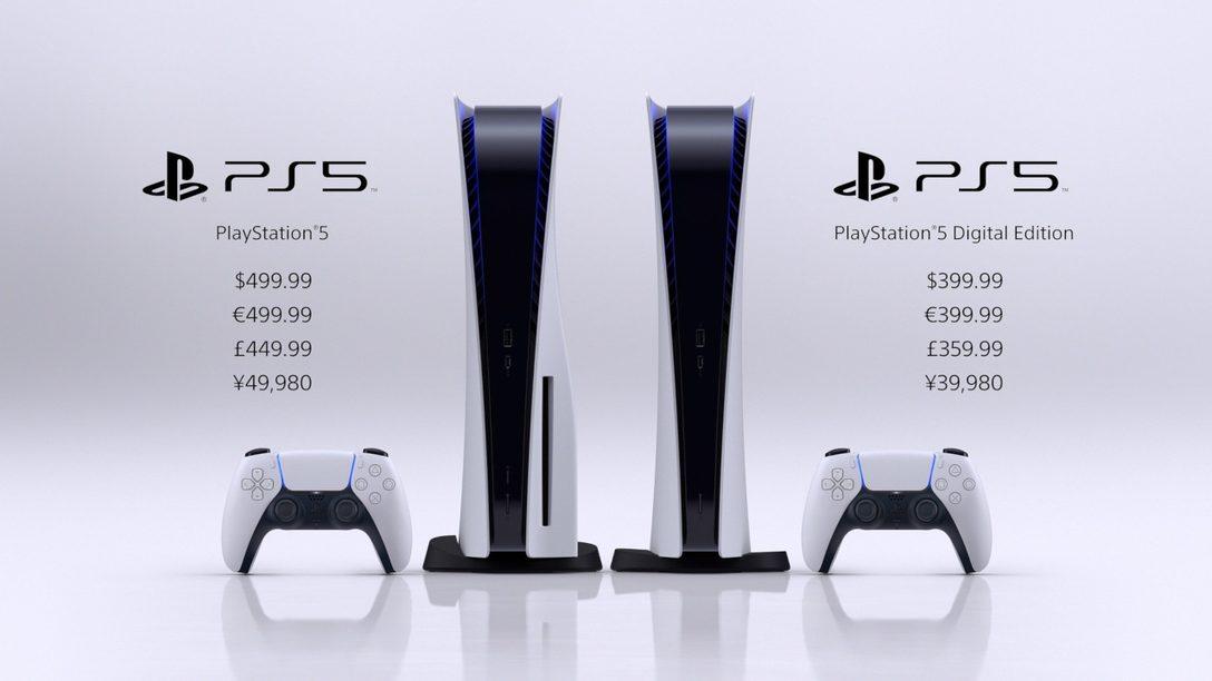 La PlayStation 5 arrivera en novembre, la version digitale de la PS5 coûtera 399,99€*** et la version Ultra HD Blu Ray coûtera 499,99€***