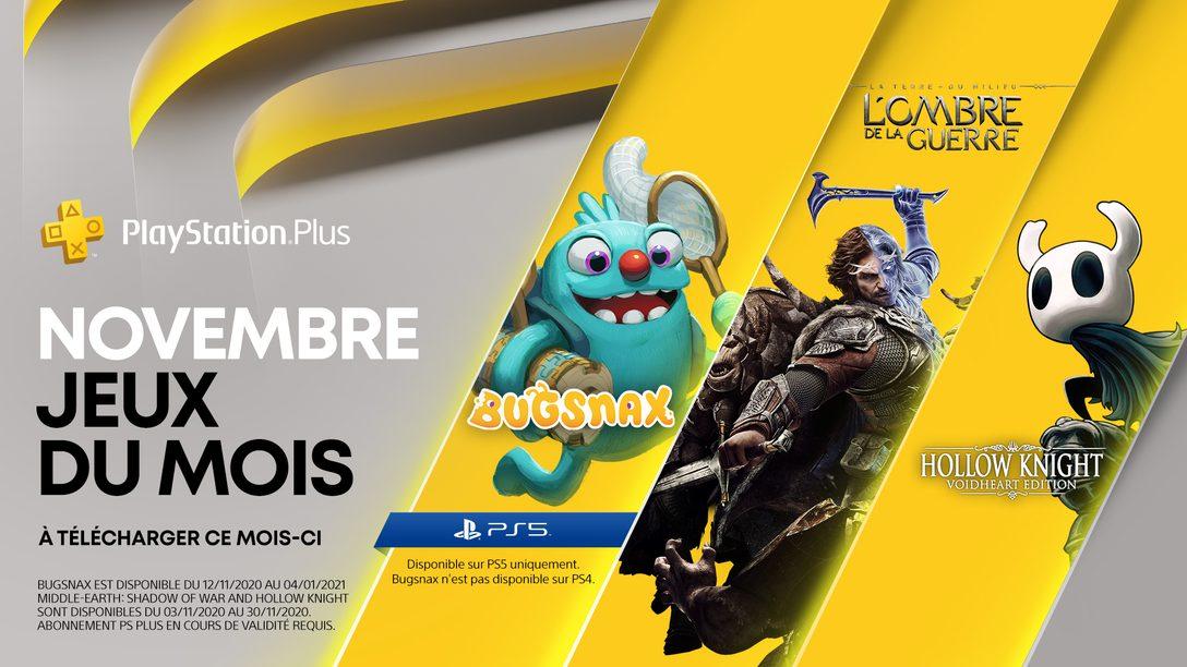 Plus d'informations sur la Collection PlayStation Plus + Vos jeux PlayStation Plus du mois de novembre