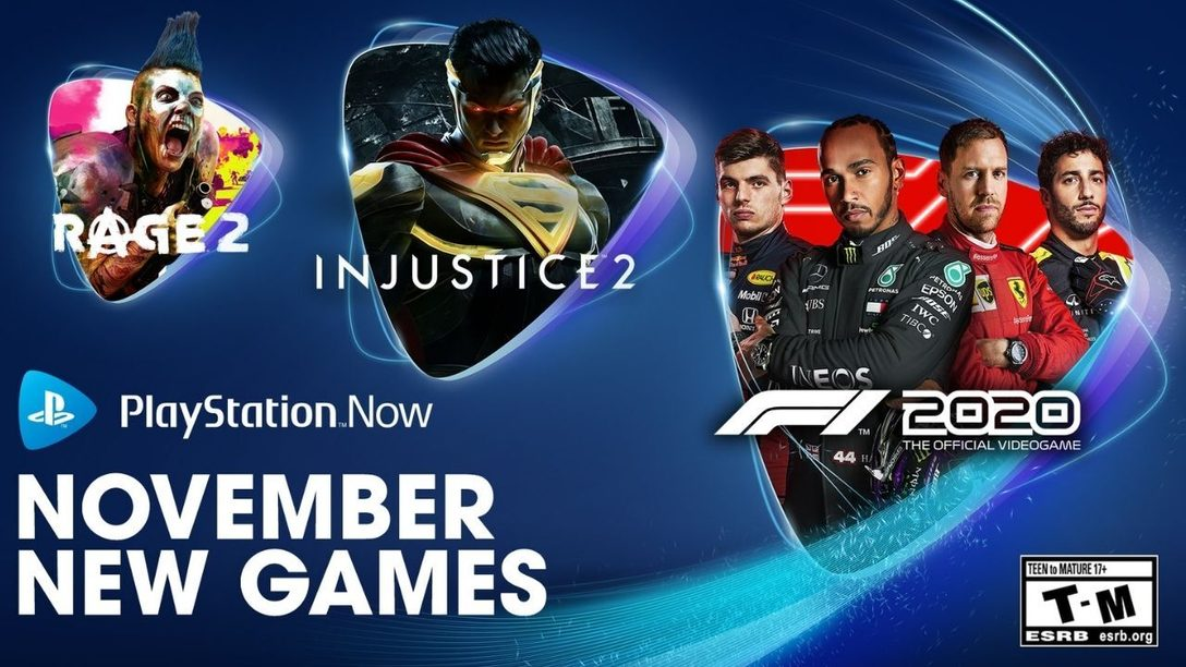 Injustice 2, Rage 2 et F1 2020 sont les jeux PS Now du mois de novembre