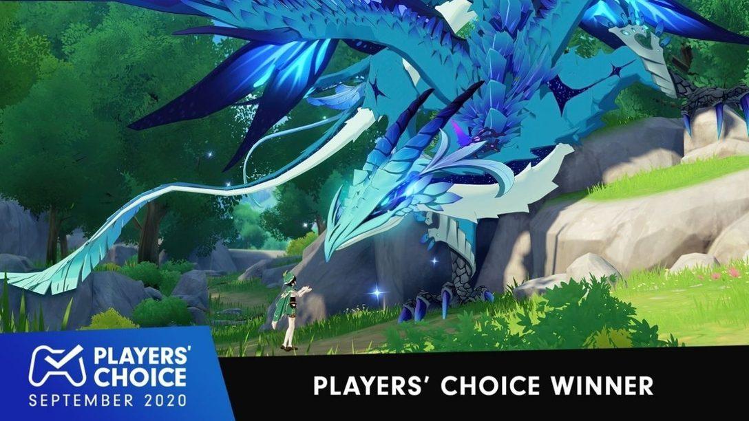 Choix des joueurs : Genshin Impact élu meilleur jeu du mois de septembre
