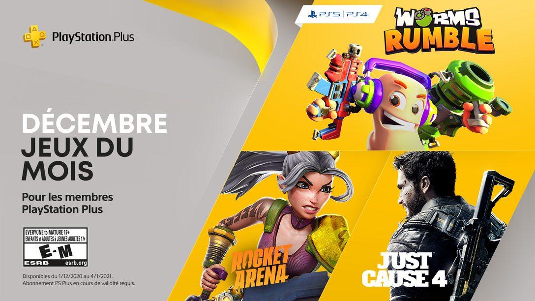 Worms Rumble, Just Cause 4 et Rocket Arena sont vos jeux PlayStation Plus du mois de décembre