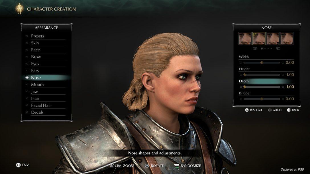 Découvrez en avant-première l'outil de création de personnages et le mode Photo de Demon's Souls