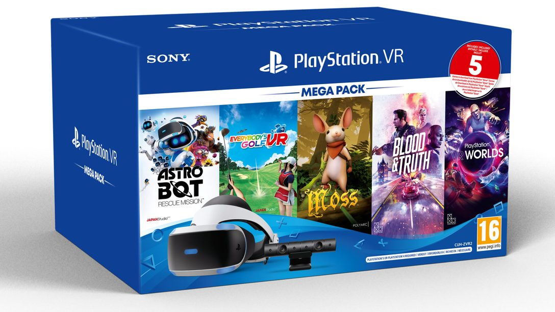 Le Méga Pack PS VR, qui comprend cinq jeux incroyables, sort ce mois-ci en Europe, en Australie et en Nouvelle-Zélande