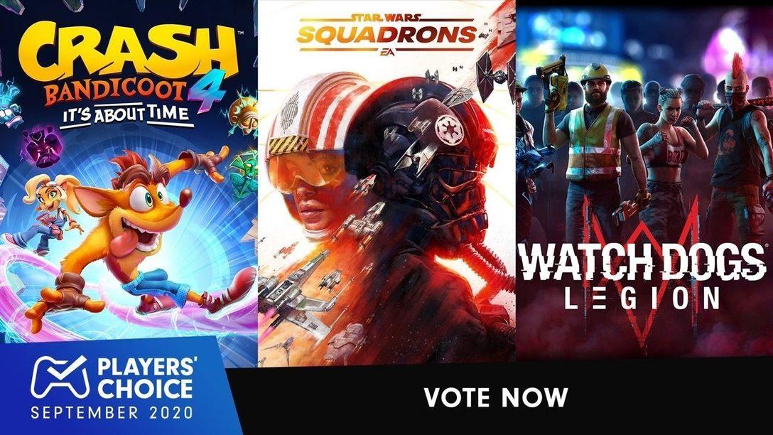 Choix des joueurs : élisez le meilleur jeu du mois d'octobre