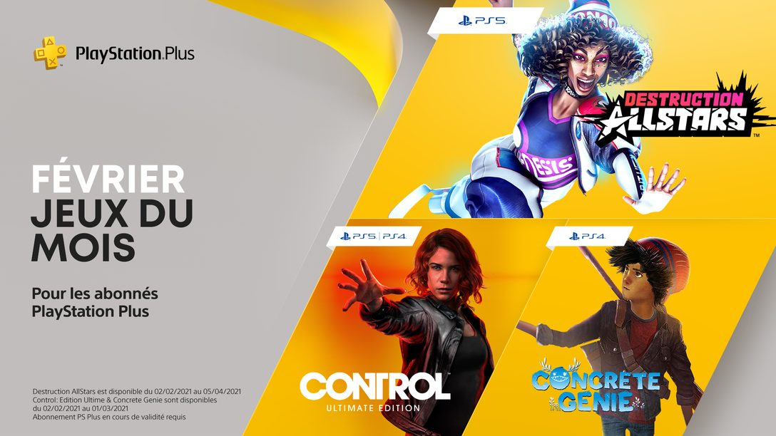 Destruction AllStars, Control: Ultimate Edition et Concrete Genie sont vos jeux PlayStation Plus du mois de février