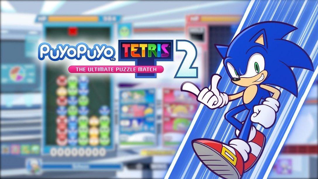 Sonic le hérisson fait une entrée fracassante dans Puyo Puyo Tetris 2 dans une mise à jour gratuite disponible dès aujourd'hui.