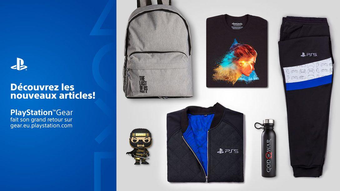 La boutique PlayStation Gear s'étend à d'autres territoires ; annonce d'une nouvelle gamme de produits Horizon Raw Materials