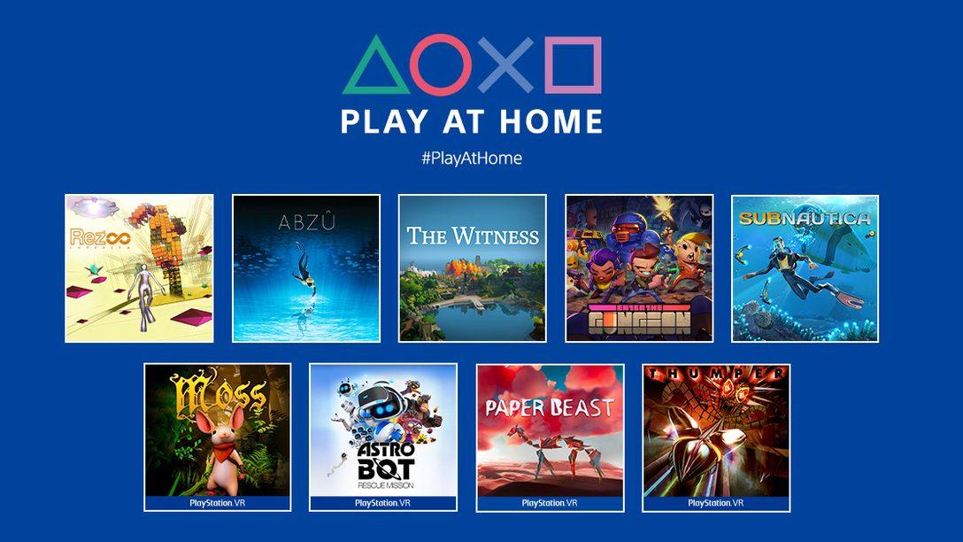 Communiqué concernant l'initiative Play at Home (Jouez à la maison) 2021 : 10 jeux gratuits à télécharger au printemps