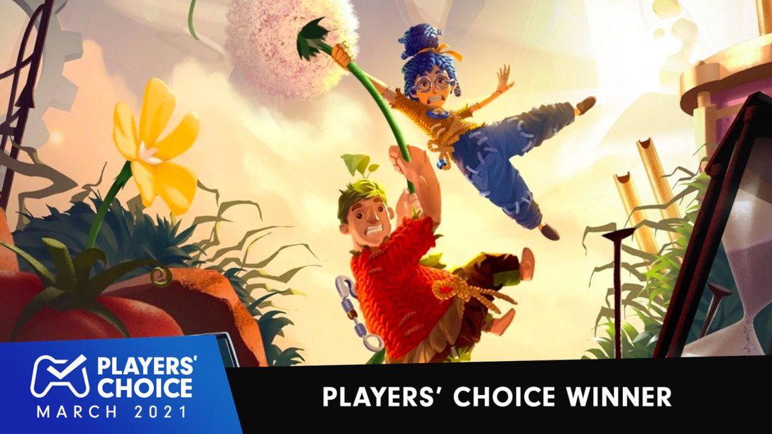 Choix des joueurs : It Takes Two élu meilleur jeu du mois de mars 2021