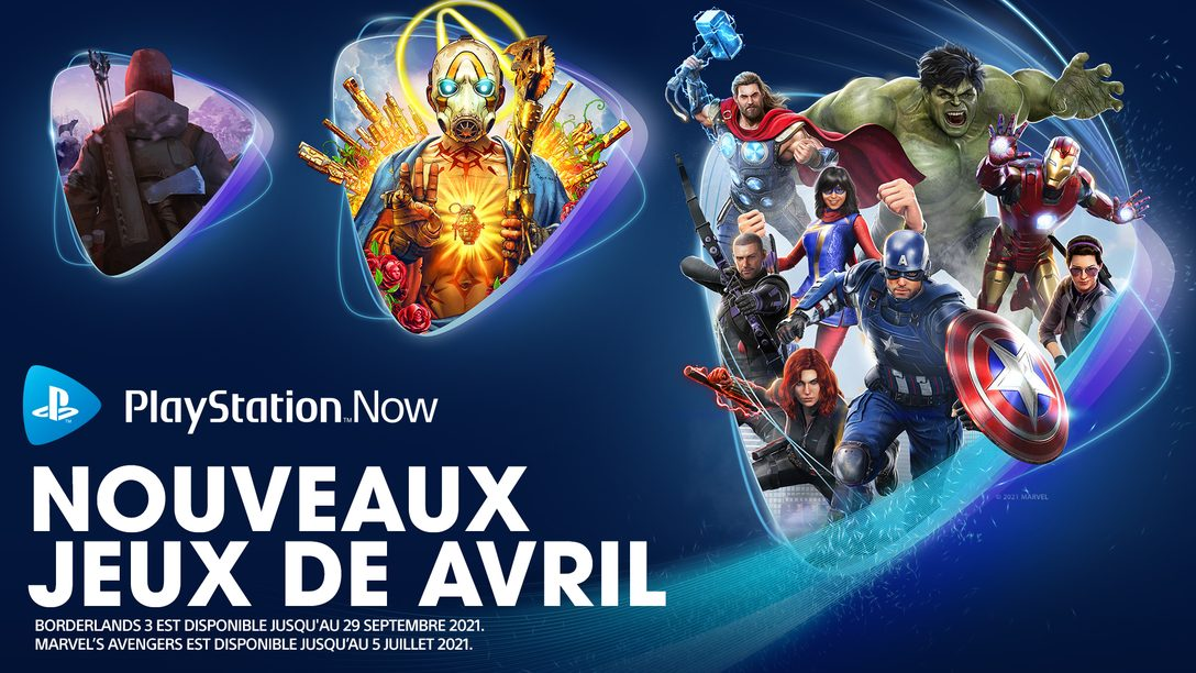Les jeux PlayStation Now du mois d'avril : Marvel's Avengers, Borderlands 3 et The Long Dark