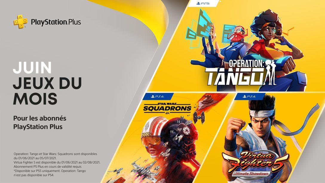 Les jeux PlayStation Plus du mois de juin : Operation: Tango, Virtua Fighter 5: Ultimate Showdown, Star Wars: Squadrons