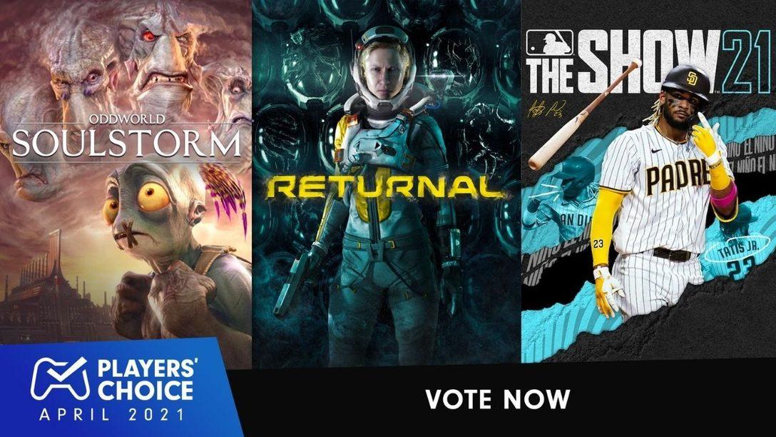 Choix des joueurs : votez pour votre jeu préféré du mois d'avril.